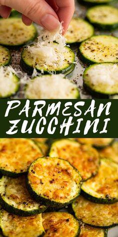 Roasted Parmesan Zucchini