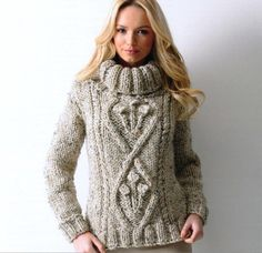 chunky knit pullover by James Brett Thick Sweaters, Wool Sweaters, Sweaters For Women, Gros Pull Mohair, Handgestrickte Pullover, Turtleneck Style, Sweater Knitting Patterns, Knitwear, Turtle Neck