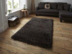 Teppich Design Hochflor Langflor Shaggy Monte Carlo schwarz/braun A100254