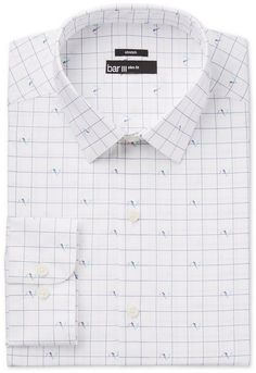 Bar III Men's Slim-Fit Stretch Easy-Care Print Dress Shirt, Created for Macy's