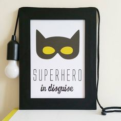 Superhero in disguise Print – Pops of Neon Wall Prints, The Help, Card Stock, Neon, Superhero, Frame, Art, Picture Frame, Art Background
