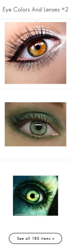 """""""Eye Colors And Lenses #2"""" by lucy-wolf ❤ liked on Polyvore featuring beauty products, makeup, eye makeup, eyeliner, eyes, beauty, eyeshadow, mineral eye shadow, mineral eye makeup and mineral eyeshadow"""
