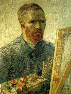 Vincent van Gogh (Dutch, 1853-1890): Self-portrait as a painter, 1888 (Oil on canvas, Van Gogh Museum, Amsterdam) - (http://nemethgyorgy.blog.hu/)