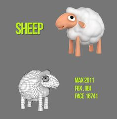 3d character white sheep