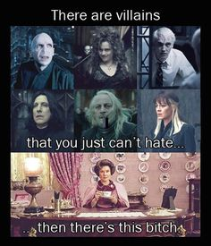 There are villains...