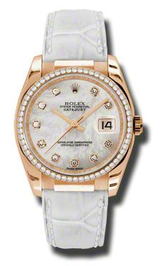 Rolex Datejust Mother of Pearl Dial Automatic Leather  Ladies Watch on sale  $27675.00  #RolexPearlmasterWatch  #LadiesWatches