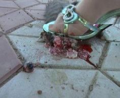 Animal Crush Fetish. Does this send up any red flags that we have a bunch of Jeffery Dahmers?????? Sick people!!!! A woman in high heels crushes a baby animal while a man watches and masterbates. We are the only species on earth capable of such horrific cruelty. We should be banished from the earth. We are scum.