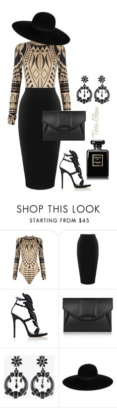 """""""Tribal Truth"""" by terra-glam on Polyvore featuring Whistles, Giuseppe Zanotti, Givenchy, Prada, Maison Michel and Chanel"""