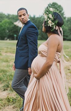 Vintage Glamour Maternity Session - Inspired By This