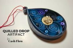 Quilled Drop Artifact for Cash Flow  Paper by PaperSpirals on Etsy