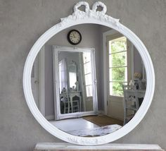 Antique French Shabby Chic Mirror