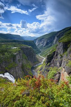 Måbødalen valley and Vøringsfossen waterfall, by Geir Pedersen on 500px. Hardangerfjord region in Norway.