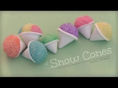 How to Make a Snow Cone Polymer Clay Charm.