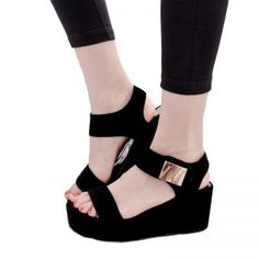 Cheap sandalias mujer, Buy Quality platform sandals black directly from China sandals black Suppliers: 2017 Women Platform Sandals Black White Sexy High Heel Wedge Sandals Fashion Summer Women Sandals Ladies Shoes Sandalias Mujer Women's Shoes Sandals, Wedge Shoes, Gladiator Sandals, Women Sandals, Shoes Women, Ladies Shoes, Flat Sandals, Flat Shoes