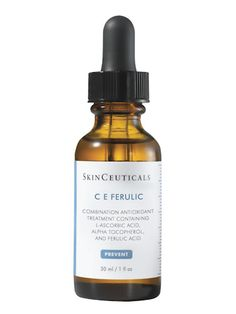 SkinCeuticals CE Ferulic Antioxidant Serum=contains most effective forms of vitamin c. Brightens and fights wrinkles and provides extra protection from the sun