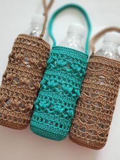 Beaded Crochet Bags – New Cheap Bags Crochet Kitchen, Crochet Home, Crochet Gifts, Free Crochet, Knit Crochet, Crochet Purses, Crochet Bags, Bottle Holders, Crochet Accessories