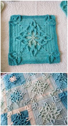 Square Motif Crochet Blankets Strange Signs by BebaBlanket