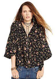 Denim & Supply Ralph Lauren Floral Peasant Top