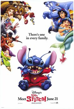 Stitch is my fav!they need to make a movie just of stitch and his life and his prospective of Lilo.
