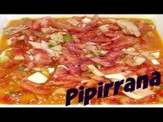 HOY COCINAMOS PIPIRRANA DE JAÉN - YouTube Chefs, Hawaiian Pizza, Good Food, Soup, The Creator, Mexican, Meat, Ethnic Recipes, Yummy Yummy