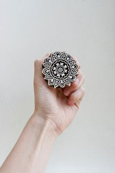 Hand carved wood textile india block stamp by TATAindianwoodstamps,