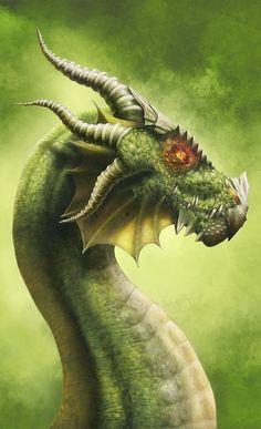 schönen grünen Drachen Jasper FForde Lultimo-Drago von Michelefrigo auf deviantART 432