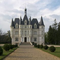 For sale in France. I would soooo live in a castle ; Beautiful Castles, Beautiful Buildings, Palaces, Photo Chateau, French Castles, Château Fort, Famous Castles, Castle In The Sky, Castle House