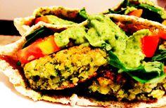 Pita con falafel