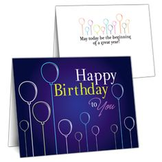 Resultado de imagem para business birthday greeting card