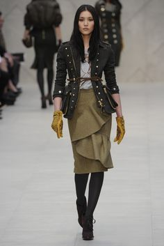 Burberry Prorsum RTW Fall 2012 - London Fashion Week. Photo by Giovanni Giannoni