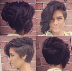 lady Mohawk, faux hawk, shaved sides, curly hair
