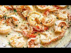 88 clean eating healthy sweet snacks under 100 calories - Clean Eating Snacks Creamy Garlic Shrimp Recipe, Low Carb Shrimp Recipes, Shrimp Recipes For Dinner, Low Carb Dinner Recipes, Seafood Dinner, Fish Recipes, Seafood Recipes, Cooking Recipes, Healthy Recipes
