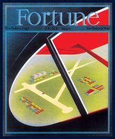 Fortune, June 1940. Illustration: Joseph Binder, art director: Francis Brennan