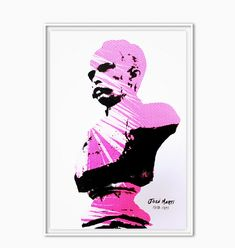 José Martí - Pink by Brian Giles Freelance Designer, Visual Communication, Screen Printing, Colours, Pure Products, Artist, Prints, Poster