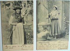 Colecção Costumes de Portugal    Costume do Norte, Arouca  Vendedora de Água  1904