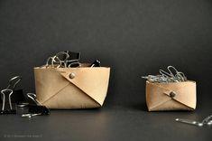 Minimalist Leather Storage : DIY Basket