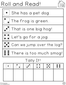 Roll and Read Short Vowel Word Families