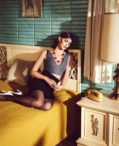 Vintage Motel Room. 1960's mid century.