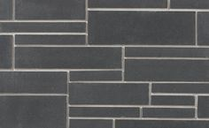 Contempo Onyx by Brampton Brick. Offered in four elemental colors, Contempo brings elegance to modern design, courses with PRP Brick, and and combines easily with Finesse or the gracefully textured Granada for fresh sophistication. Building Stone, Design Trends, Modern Design, Brick, New Homes, Texture, Granada, Exterior, Fresh