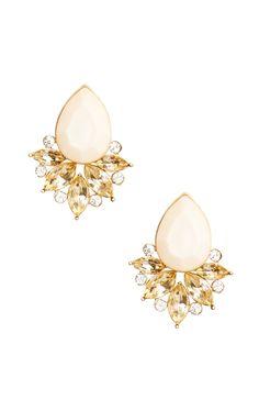 Aniston Teardrop Earrings in Peach