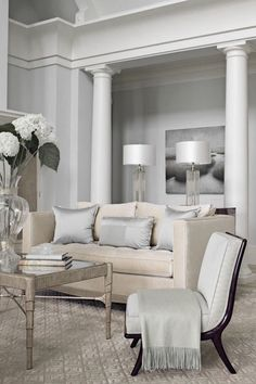 ♅ Dove Gray Home Decor ♅  incredible living room sofa