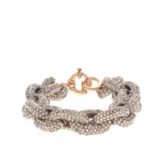 J.Crew Color Crystal Pavé Link Bracelet