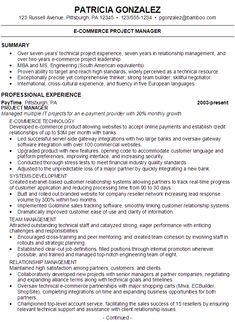 comprehensive resume sample | best templates | pinterest - E-resume Examples
