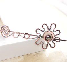 flower vine shawl pin