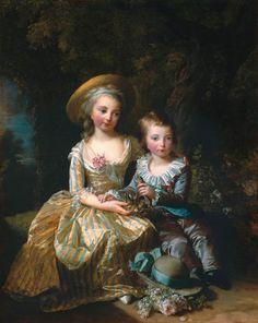 Elisabeth Vigée-Lebrun - Marie-thérèse et le dauphin, 1784