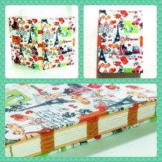 Caderno com tema Paris, miolo bicolor sem pauta, estilo Codex e lindo lindo de viver!