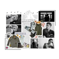 A fashion look created by freezespell featuring Men's Throttle Tank - Cargo Green Pullovers, Emile, newsprint background, Emile. Browse and shop related looks. Cover Up, Fashion Looks, Feelings, Baby, Style, Swag, Infants, Baby Humor, Babies