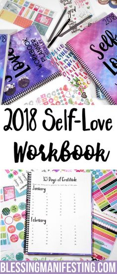 self-care planner, self-care workbook, self-love workbook, bullet journal self-care