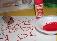 We love this SIMPLE Valentine's Day art tip from Julie Kieras... *Check out her other suggestions too...