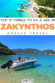 From the Blue Caves to Shipwreck beach and more, here are the top 15 things to do and see in Zakynthos, Greece! Discover the attractions, beaches, and villages of the island, and get ready to add this travel destination to your bucket list! | #greece #zakynthos #wanderlust Greek Islands To Visit, Best Greek Islands, Amazing Destinations, Travel Destinations, Sarakiniko Beach, Greek Town, Stuff To Do, Things To Do, Greek Island Hopping